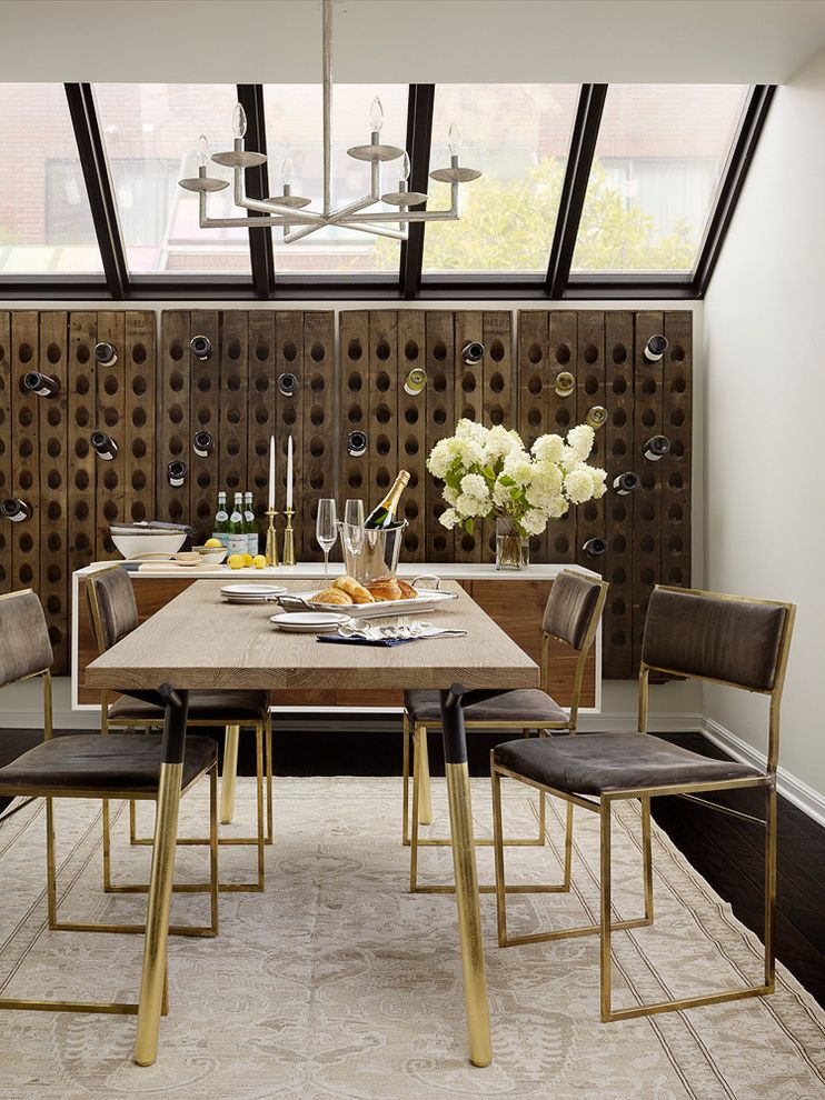 Decorative Garment Rack with Transitional Dining Room Also Decorative Wine Decorative Wine Storage Glass Ceiling Gold Leaf Table Legs Skylights Wine Storage