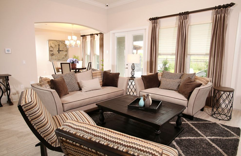 Define Arrange   Contemporary Living Room  and Area Rugs Curtain Rods Living Room Furniture Luxury Coffee Table Shades Sheer Shades Silk Drapes Window Coverings Window Treatments
