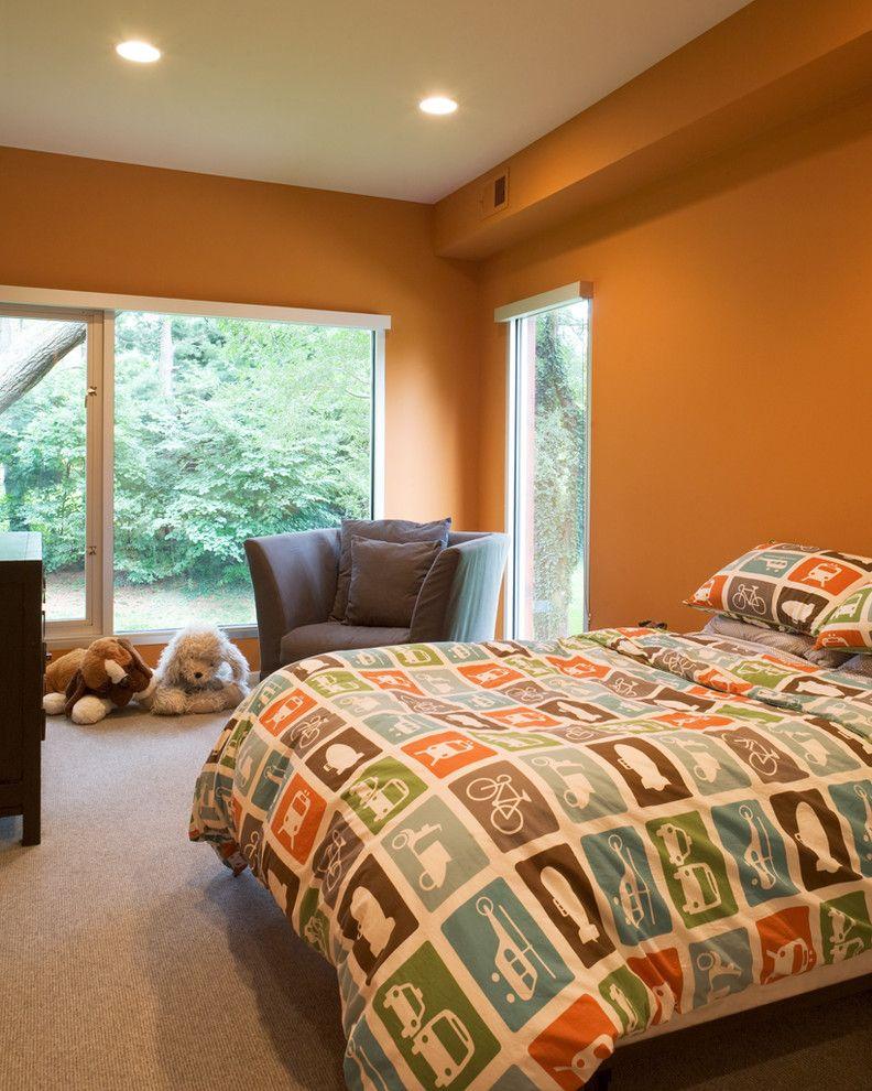 Define Duvet   Modern Kids Also Auto Bedding Bedroom Boys Room Casement Windows Ceiling Lighting Orange Walls Recessed Lighting Transportation Bedding