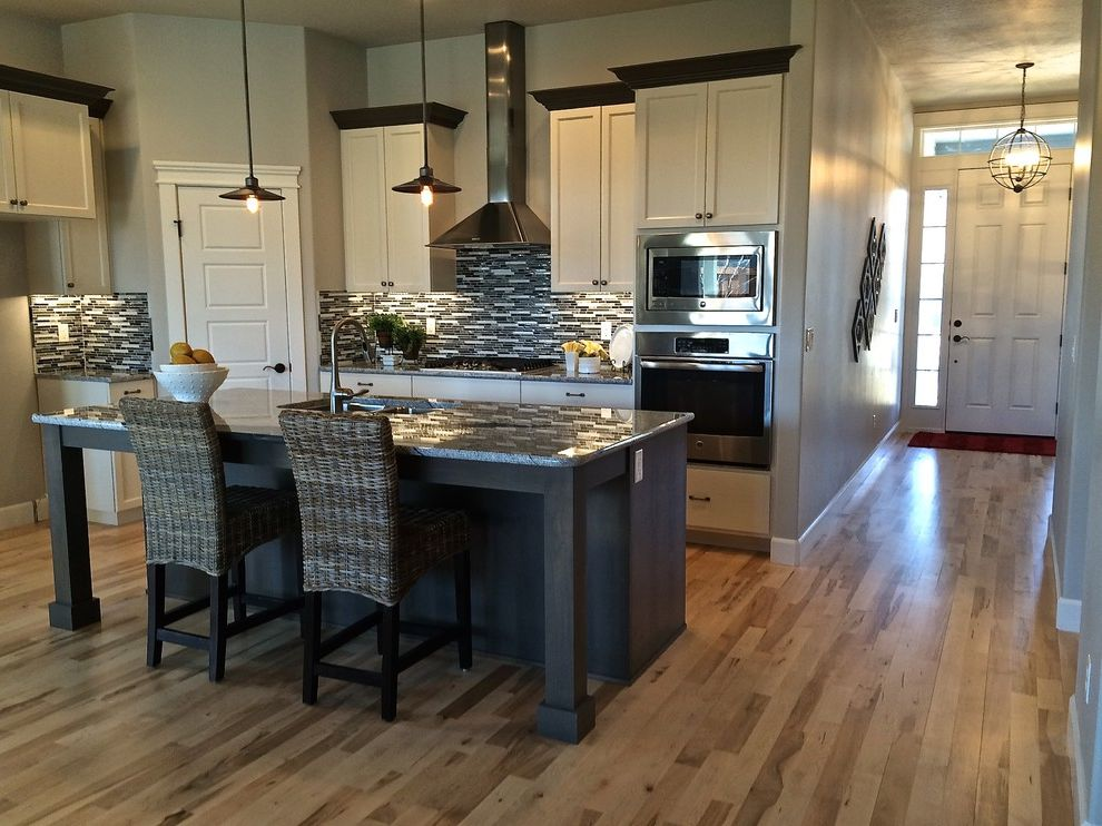 Dillabaugh's   Craftsman Kitchen Also Granite Hardwood New Construction Tile