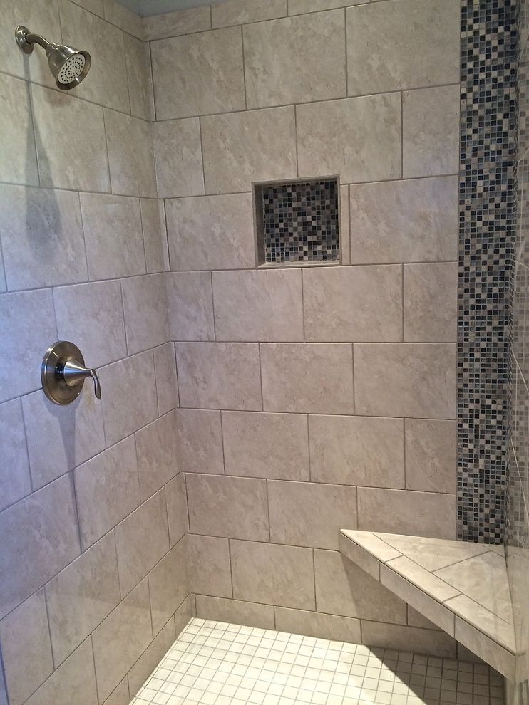 Dillabaugh's with Craftsman Bathroom  and New Construction Shower Tile