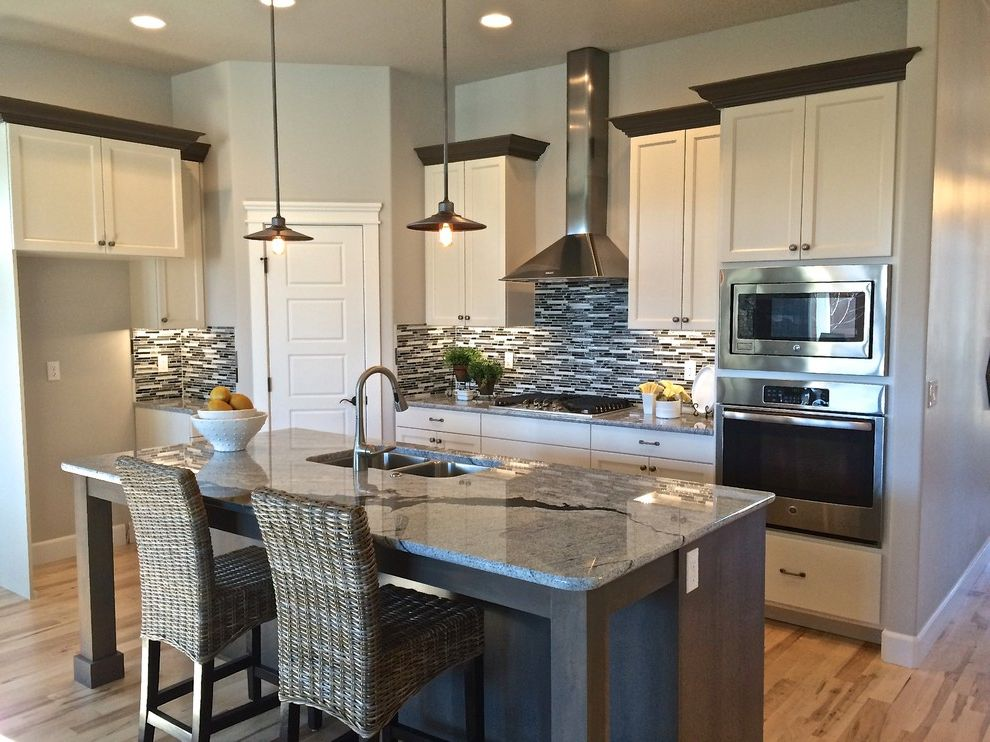 Dillabaugh's with Craftsman Kitchen  and Granite Hardwood New Construction Tile
