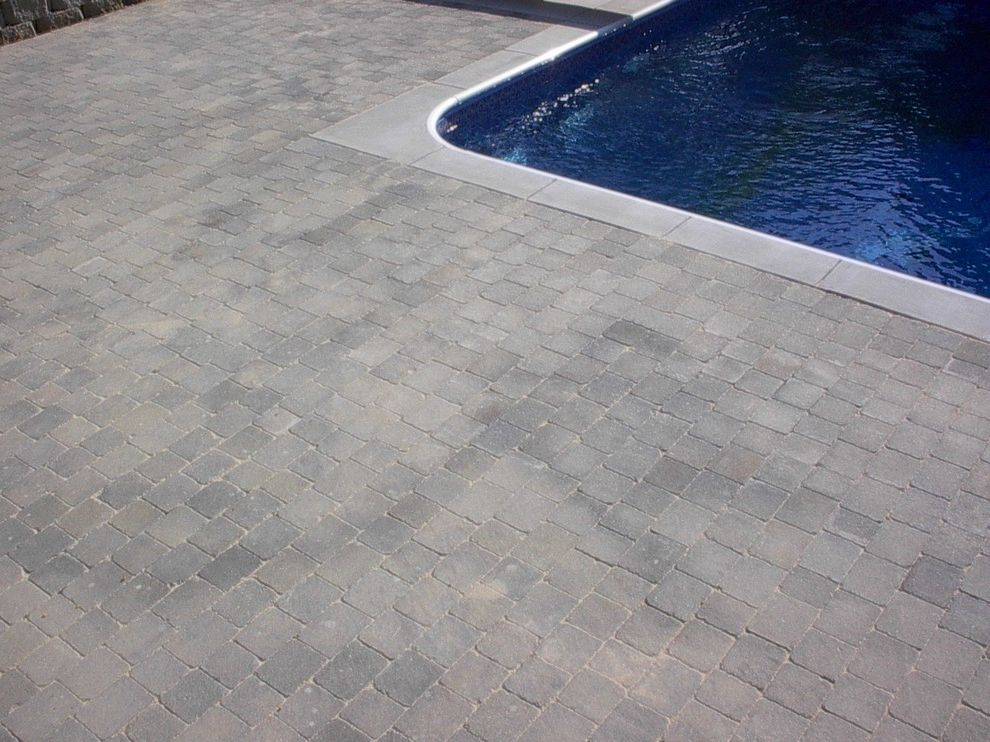 Dixie Pools with  Pool  and Concrete Deck Concrete Deck Around Pool Concrete Design Concrete Pavers Concrete Steps Stained Concrete