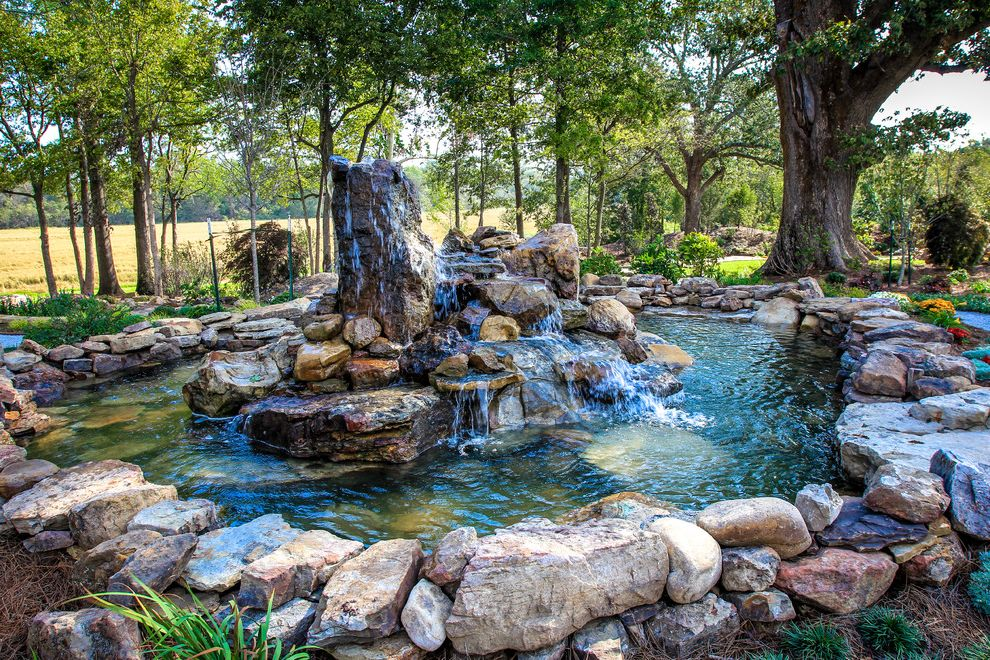 Dixie Pools with Traditional Landscape Also Flowers Natural Landscape Pond Rock Fountain Rock Landscape Rock Water Feature Rock Water Fountain Trees Water Feature Water Fountain