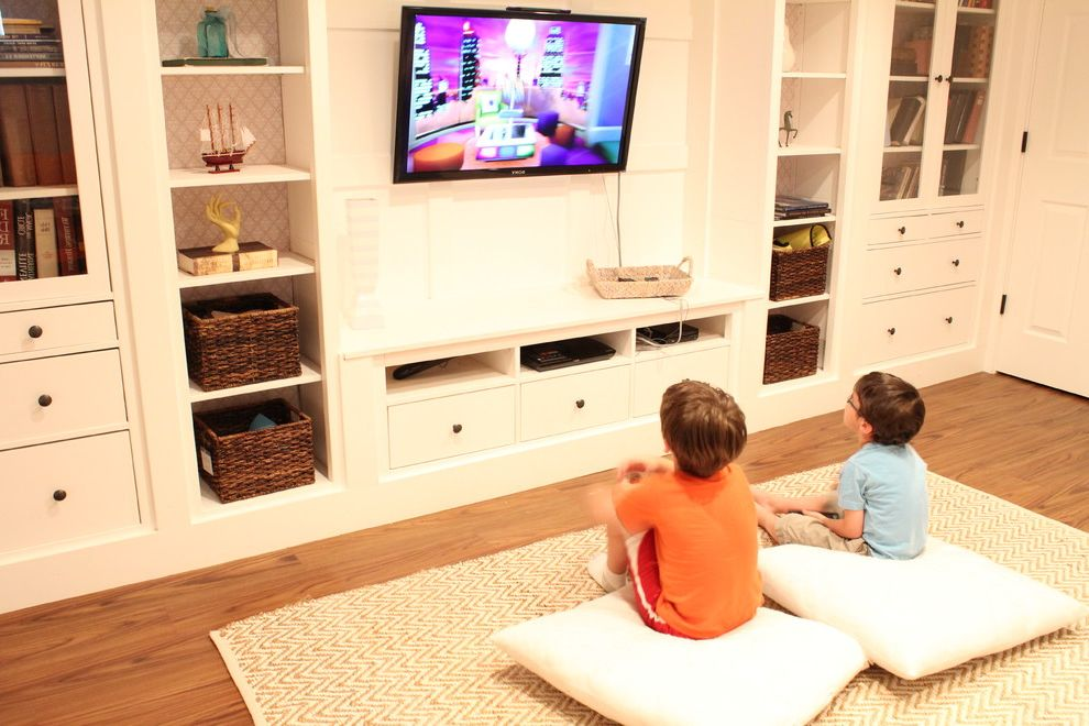 Diy Network Tv Shows with Traditional Basement  and Traditional