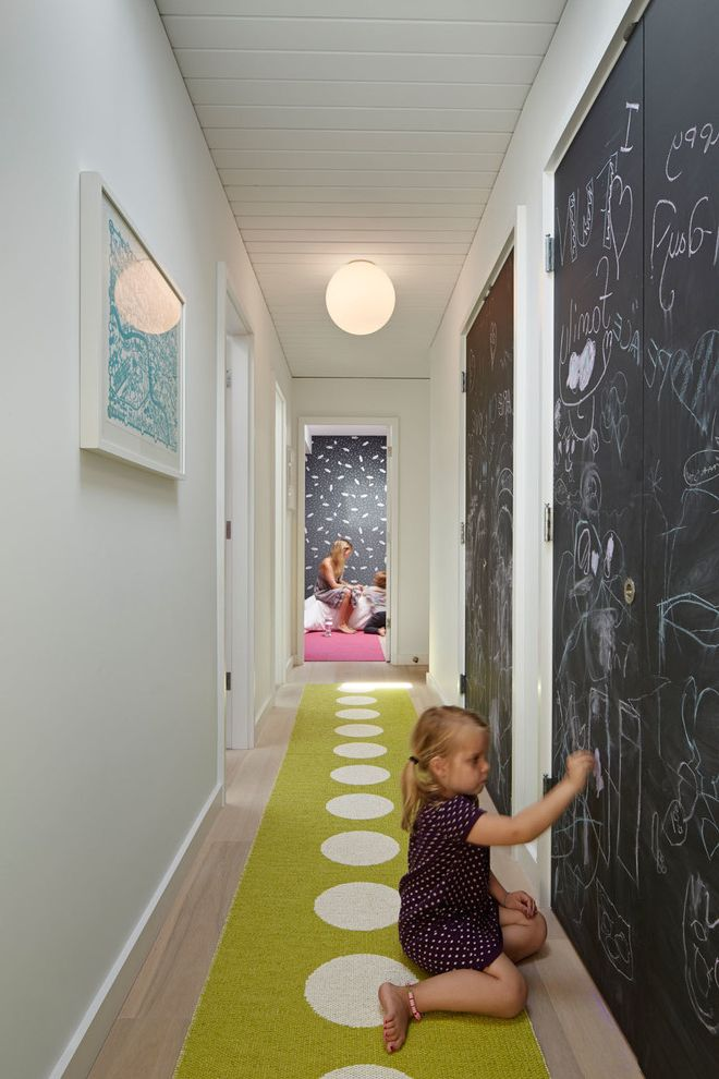 Do Chalk Markers Erase   Midcentury Kids Also Artwork Ceiling Light Chalkboard Walls Disco Eames Eichler Fun Glamour Green Hallway Runner Kids Luxe Mid Century Playful Polka Dots Renovation Vintage White Walls Wood Ceiling