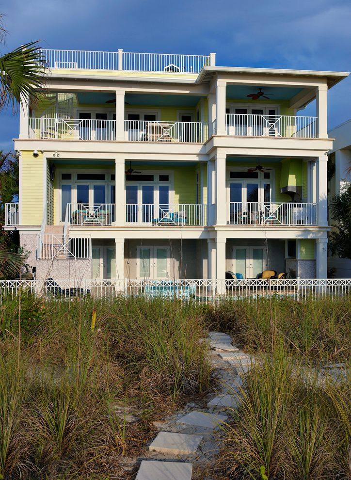 Domain Homes Tampa with Tropical Exterior and Balconies