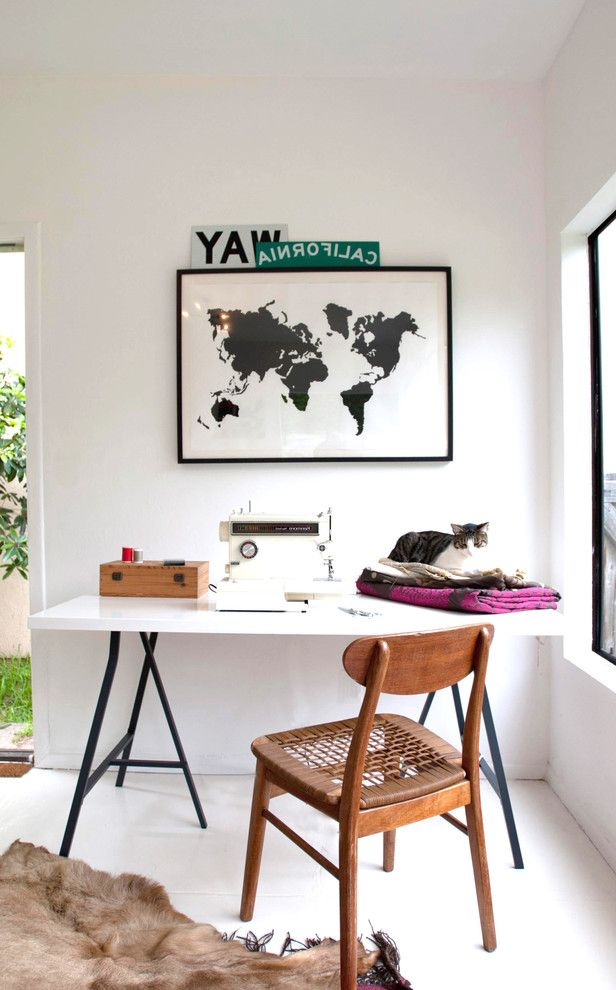Donaldson Watch Repair with Contemporary Home Office  and California Cat Hide Ikea Map Sewing