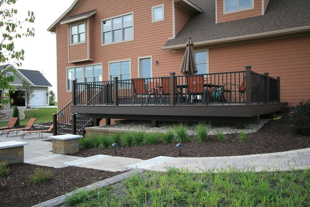 Douglas Aquatics   Modern Deck  and Columns Cool Deck Deck Lighting Landscape Lighting Modern Landscape Paver Patio Retaining Walls