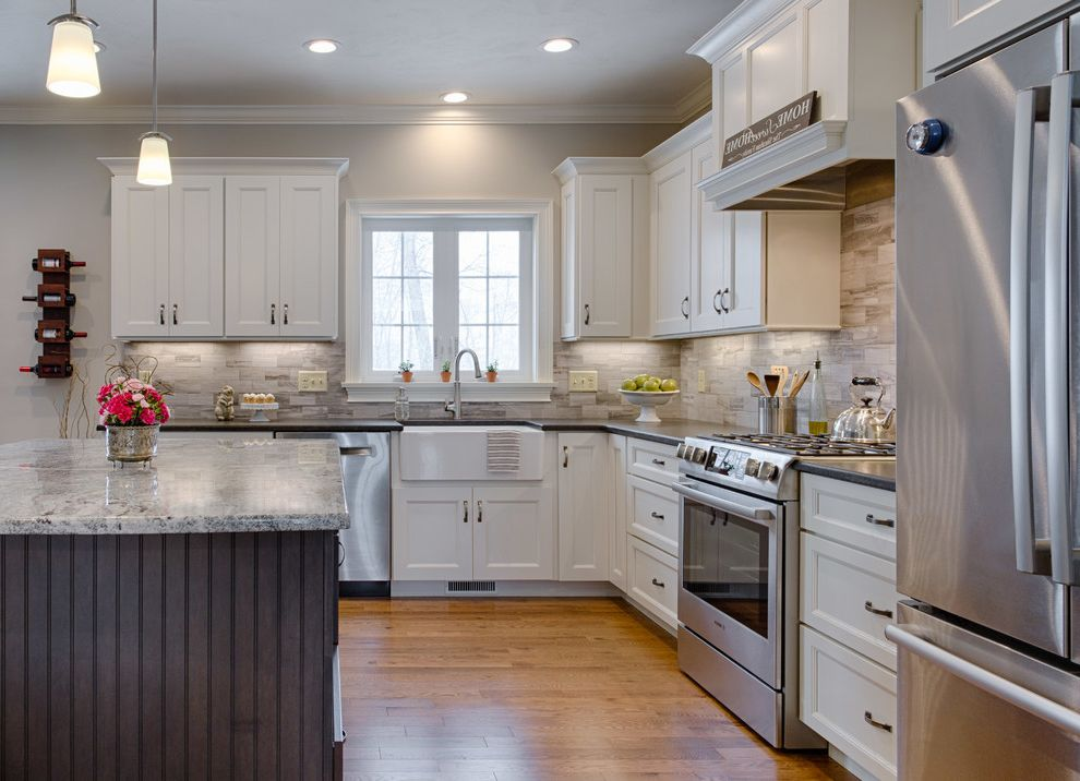 Dracut Appliance Contemporary Kitchen Also Black Pearl Black Pearl Granite  Black Pearl Leather Granite Granite Plus Gray Cabinets Shaker Style Silver  Cloud ...