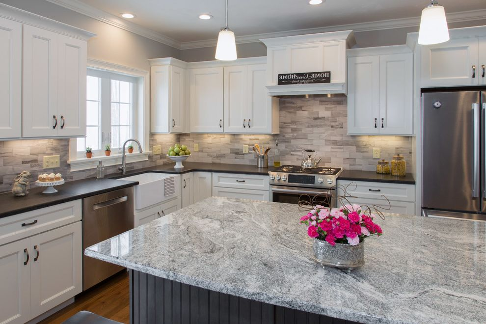 White Pearl Granite Kitchen Kitchen Backsplash Ideas