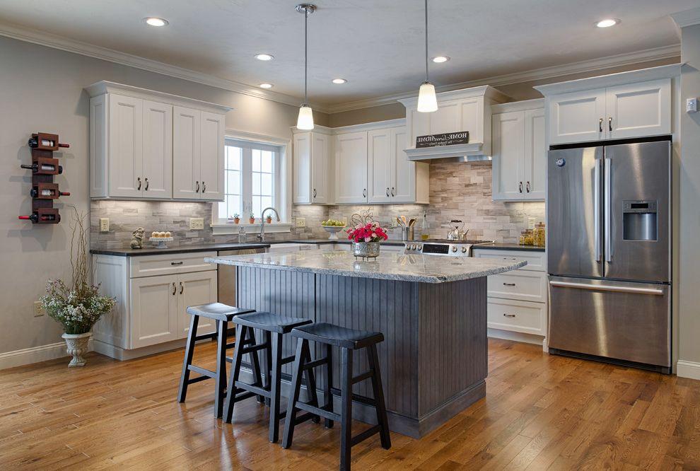 Silver Cloud Granite Kitchen Island Kitchen Design Ideas
