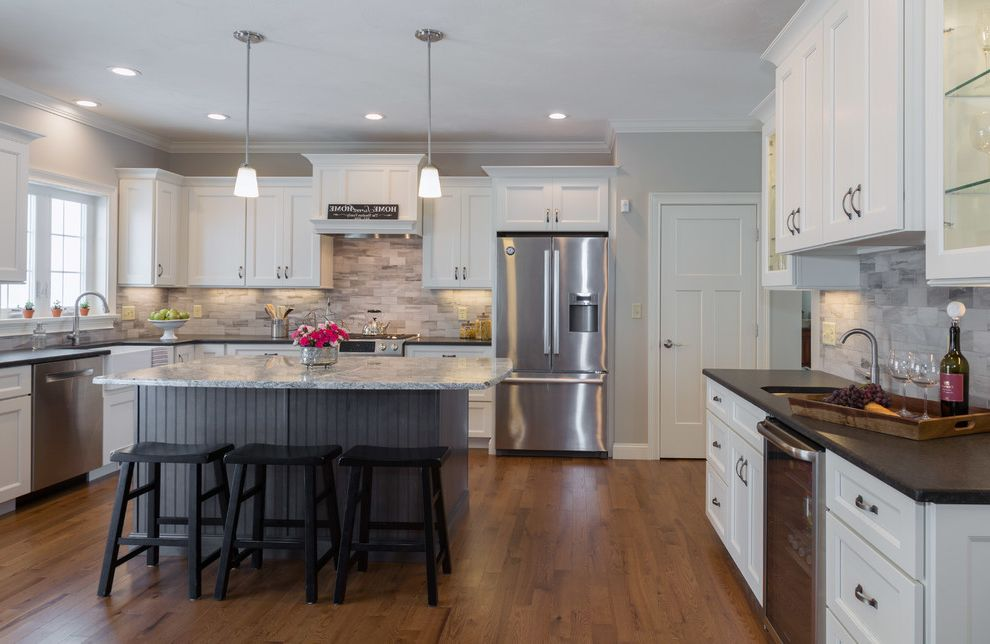 Dracut Appliance with Traditional Kitchen Also Aspect Cabinetry Full Overlay Shiloh Cabinetry Two Toned White