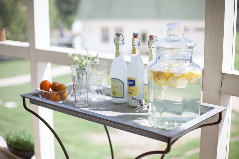 Drink Dispenser with Ice Core with Farmhouse Spaces  and Farmhouse