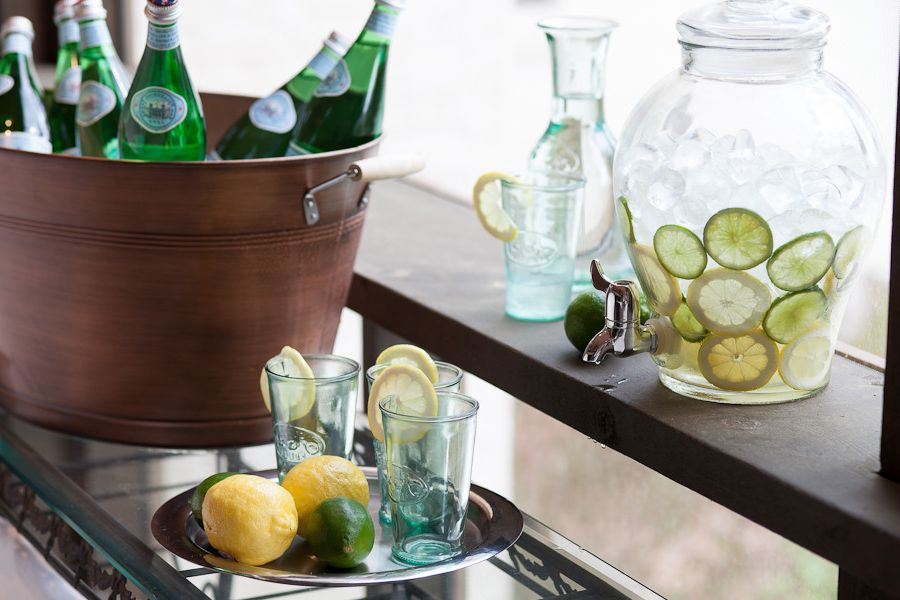 Drink Dispenser with Ice Core with Traditional Spaces  and Beckwith Interiors Jamie Beckwith Lemonade Nashville Porch Screened Porch