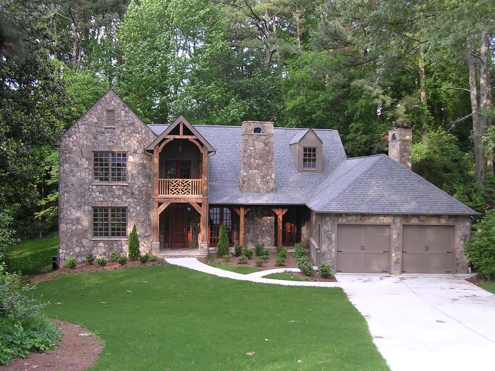 Driveway Paving Richmond Va With Rustic Exterior And Balcony Cabin