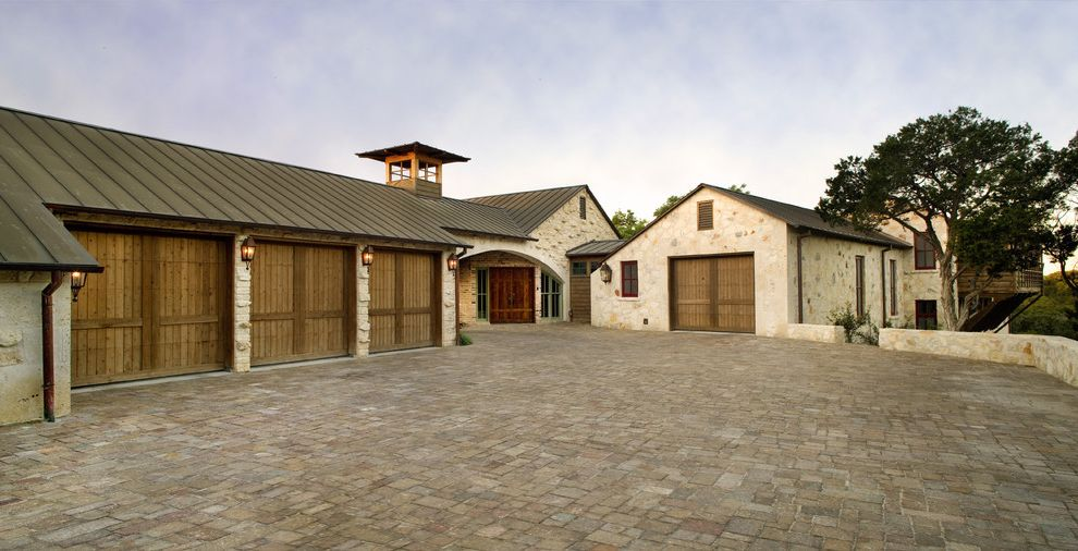 Driveway Paving Richmond Va With Rustic Exterior And Carriage Doors