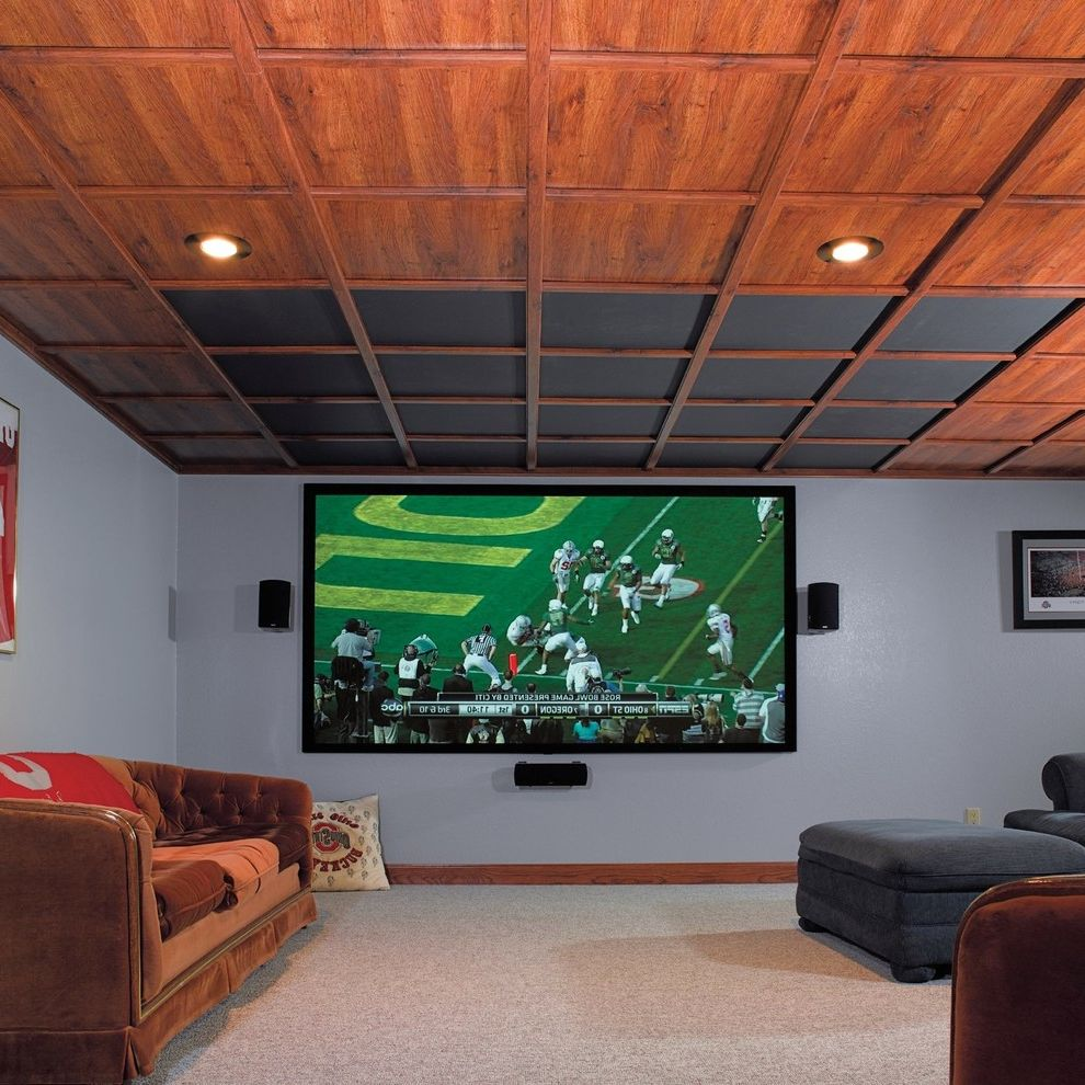 Drop Ceilings for Basements   Traditional Basement  and Basement Drop Ceiling Wood Ceiling