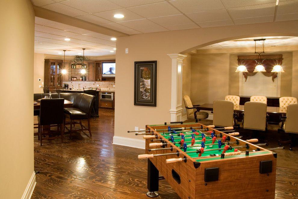 Drop Ceilings for Basements   Traditional Basement  and Basement Rec Room