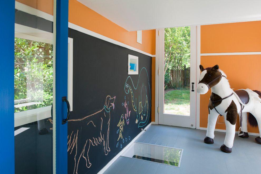 Dry Erase Board Paint with Contemporary Kids Also Blue Chalkboard Wall Children Floor Window Fun Glass Door Glass Doors Glass Paneled Door Kid Friendly Child Sized Kid Sized Mondrian Observation Window Orange Playhouse Toy Horse Toys