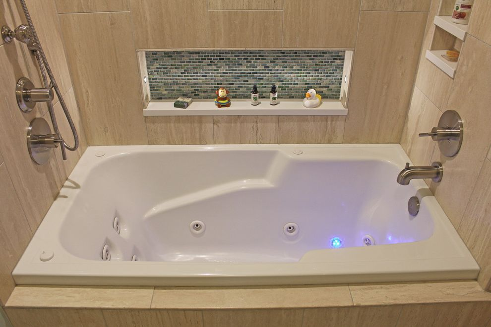 Duvall Plumbing   Transitional Spaces Also Nitche Caps Solid Surface Nitche Caps Spa Tub