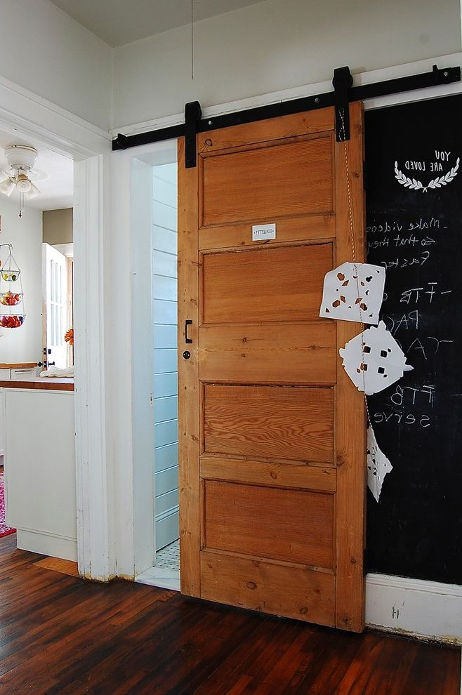Dwellings Asheville with Eclectic Hall  and Asheville Barn Door Chalkpaint Chalkpaint Wall Diy Diy Farm Door Eclectic My Houzz
