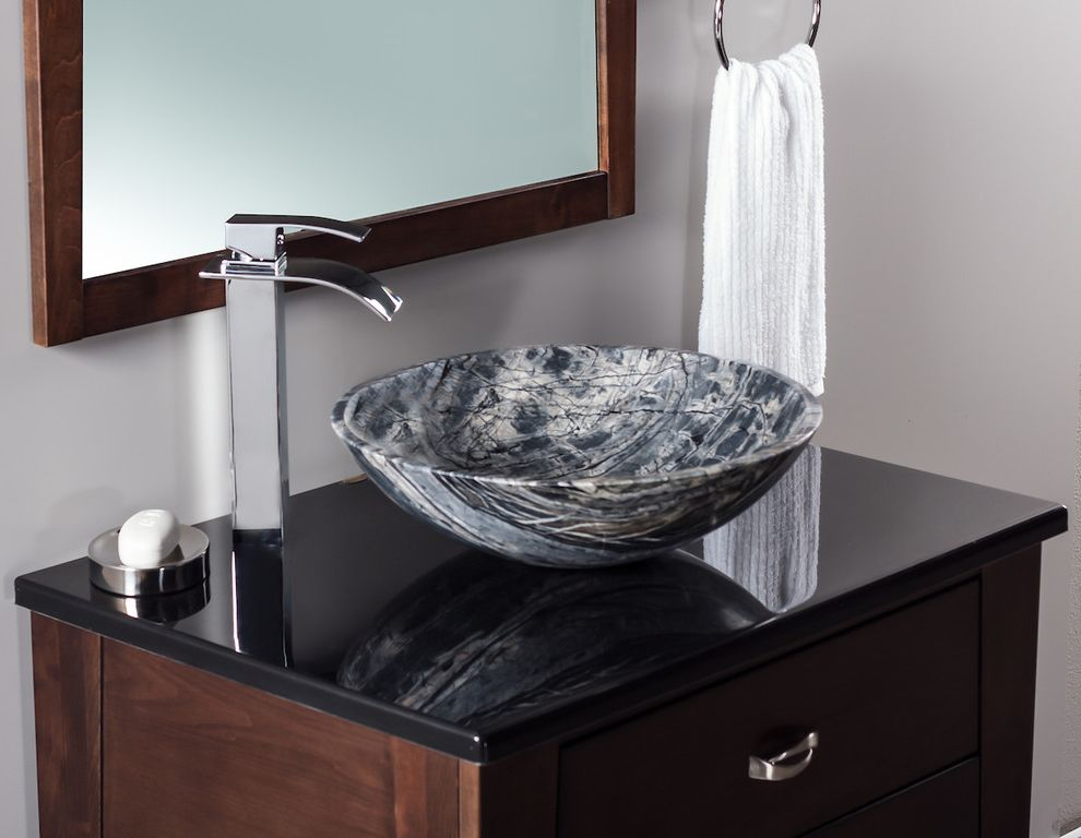 Eclipse Faucets with Contemporary Bathroom  and Contemporary
