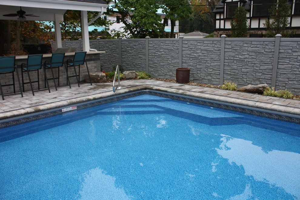 Ecostone Fence    Pool Also Automatic Cover Cover Exterior Outdoor Outdoor Dining Pool