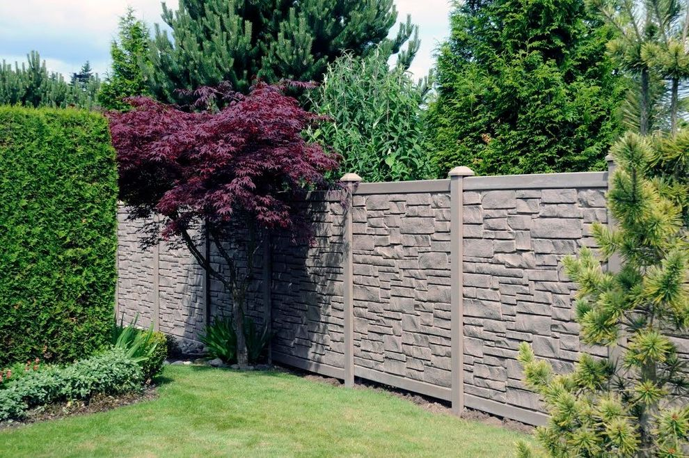 Ecostone Fence with Transitional Landscape Also Custom Made Ecostone Paved Stone Simtek Fence Stone Fence