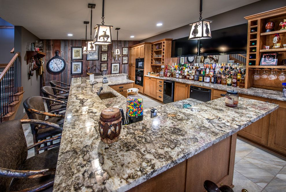 Electrician Jackson Ms   Craftsman Home Bar  and Chair Back Bar Stools Dishwasher Granite Countertop Gum Balls Home Bar Liquor Rustic Wood Accent Wall Western Pendant Lights Wine Racks