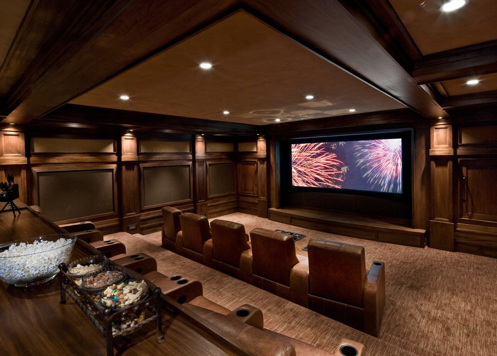 Elk River Theater   Traditional Home Theater  and Traditional