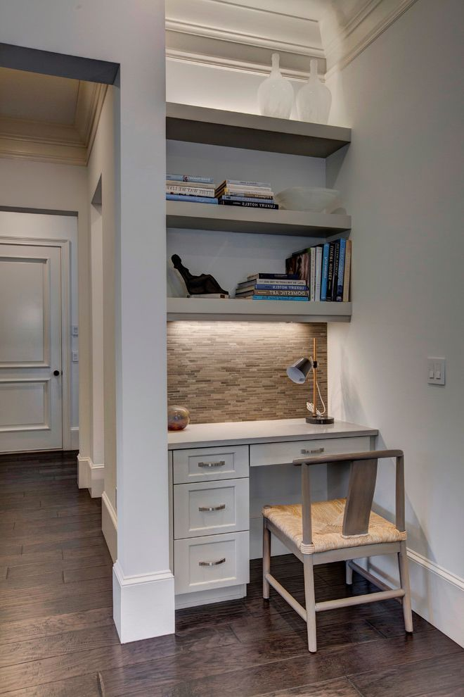 11 photo similar to enclosed desk with traditional home office also bookshelves built in desk built in shelves built in desk carpet pattern ceiling lighting - Bookshelves And Desk Built In