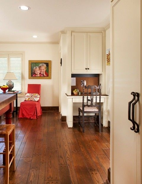 Enclosed Desk with Traditional Kitchen  and Traditional
