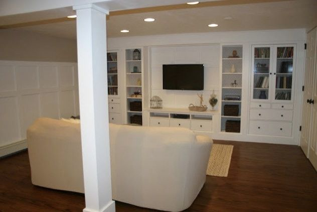 Entertainment Centers Ikea with Traditional Basement  and Basement Renovation