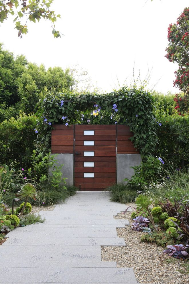 Epay Wood Modern Landscape Also Concrete Concrete Path Gate ...