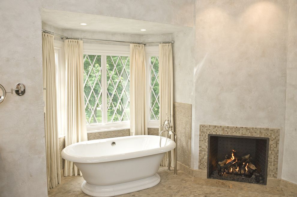 Equinox Pine Street   Victorian Bathroom Also Bay Window Curtain Panel Fireplace Floor Mount Tub Filler Master Bath Paint Treatment Pedestal Tub Soaking Tub Tile Fireplace Surround Tile Floor Tub West Chester Window Treatment