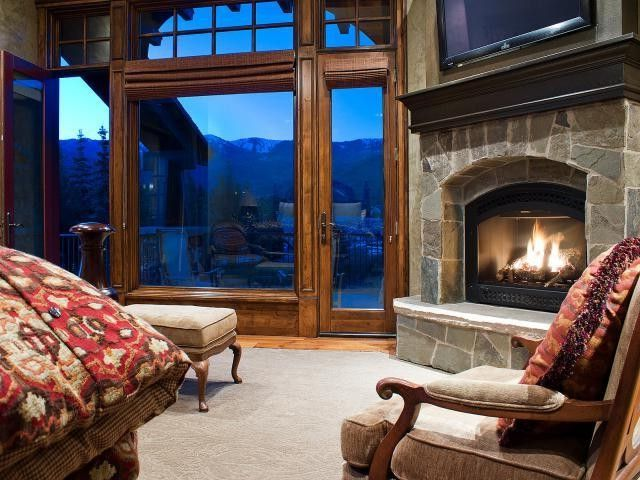 Equity Real Estate Utah   Contemporary Bedroom  and Bedroom Contemporary Fireplace Mountain Retreat Park City Retreat Utah Vacation Home View