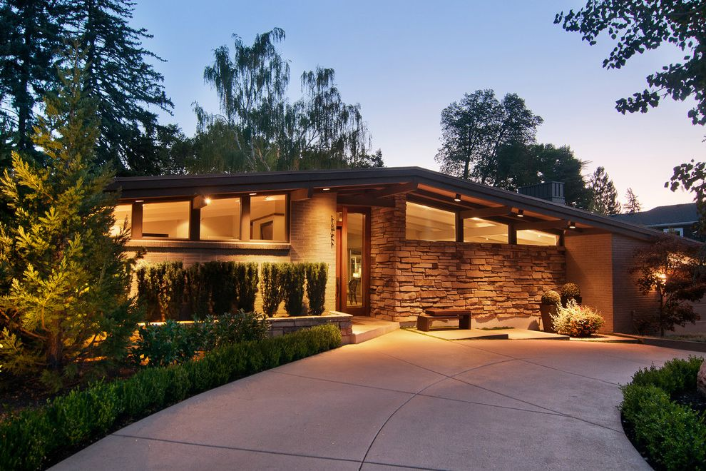 Equity Real Estate Utah with Contemporary Exterior  and Circular Driveway Mid Century Modern Mid Century Salt Lake City Utah Sunset