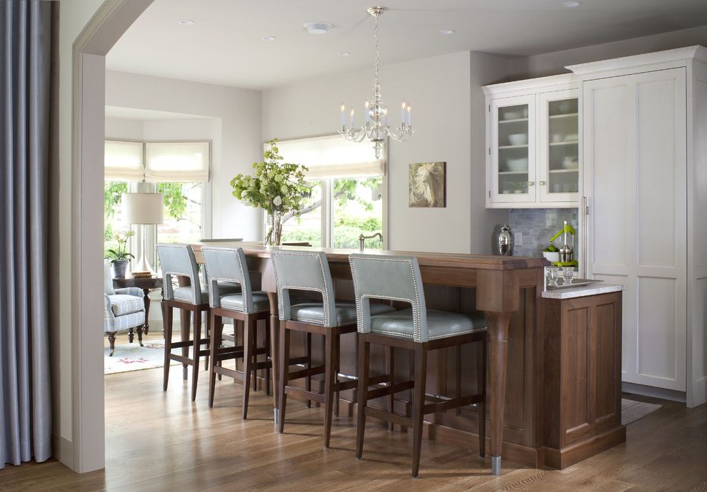 Ethan Allen Bar Stools with Transitional Kitchen Also Transitional