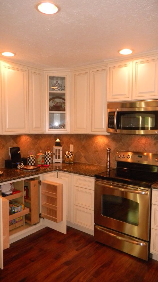 Everhart Construction   Traditional Kitchen Also 1970s Kitchen Remode Granite Counter Tops Painted Cabinets