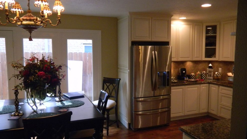 Everhart Construction with Traditional Kitchen  and 1970s Kitchen Remode Granite Counter Tops Painted Cabinets