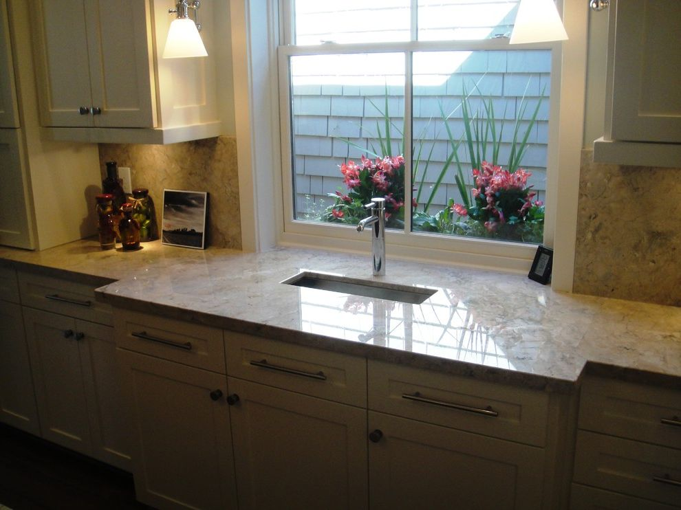 Everhart Construction with Traditional Kitchen  and Custom Cabinets Dual Under Counter Ovans Granite Counter Tops Major Kitchen Remodel Painted Cabinets