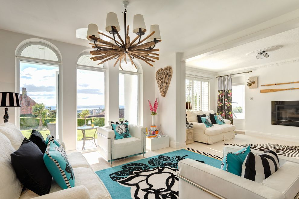 Expensive Chandeliers   Beach Style Living Room Also 1930s Beach Style Blue Sky Contemporary Driftwood Decorative Heart and Light Garden House Marine Modern Palm Tree Render Seaside Stucco White White Armchair White Walls