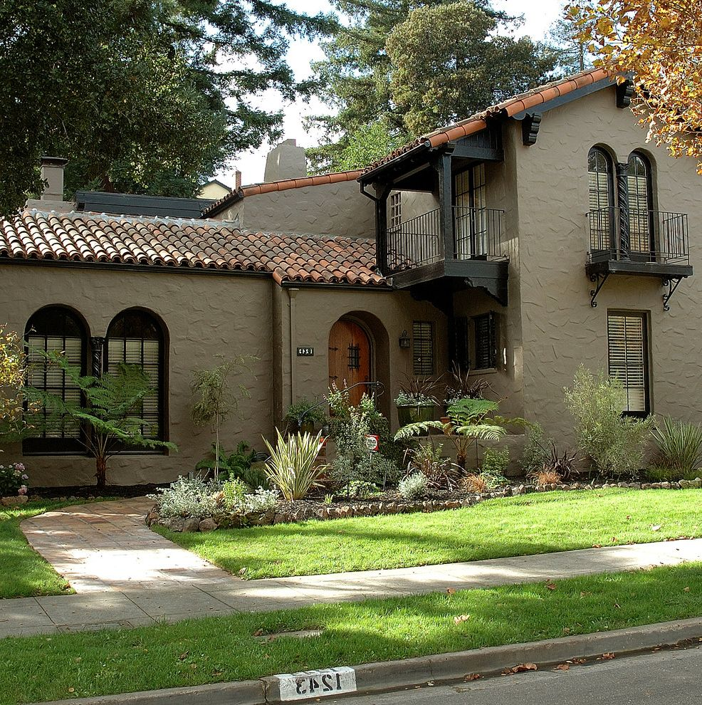 Exterior Paint Colors with Brown Roof   Mediterranean Exterior  and Mediterranean