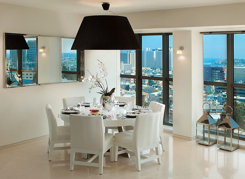 Round Mirror Dining Room Table