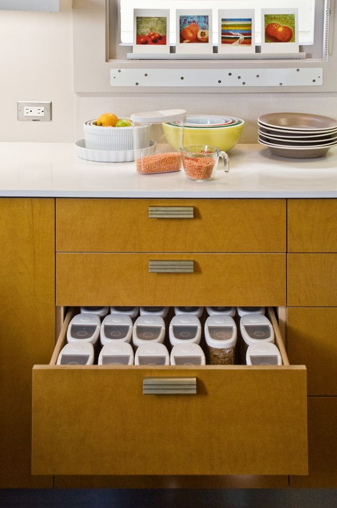 Extra Large Plastic Storage Containers with Lids with Contemporary Kitchen Also Caesarstone Countertop Kitchen Drawer Light Countertop Pull Handle Storage Designs Storage Ideas Tile Tiled Backsplash White Countertop White Tile Wood