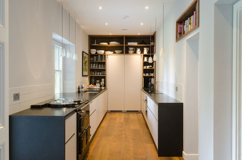 Extra Space Storage Pearl City with Contemporary Kitchen Also Aga Bathroom Black Aga Black Countertop Bristol Built in Shelves Contemporary Kitchen Galley Galley Kitchen Kitchen Kitchen Shelves Pendent Lighting Refurbishment Tile Splashback