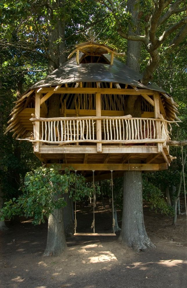 Ezs8wslk with Tropical Landscape Also Balcony Branches Cone Roof Dormer Hugh Lofting Timber Framing Logs Metal Roof Timber Frame Timber Framed Timber Framed Tree House Tree House Tree House Swing