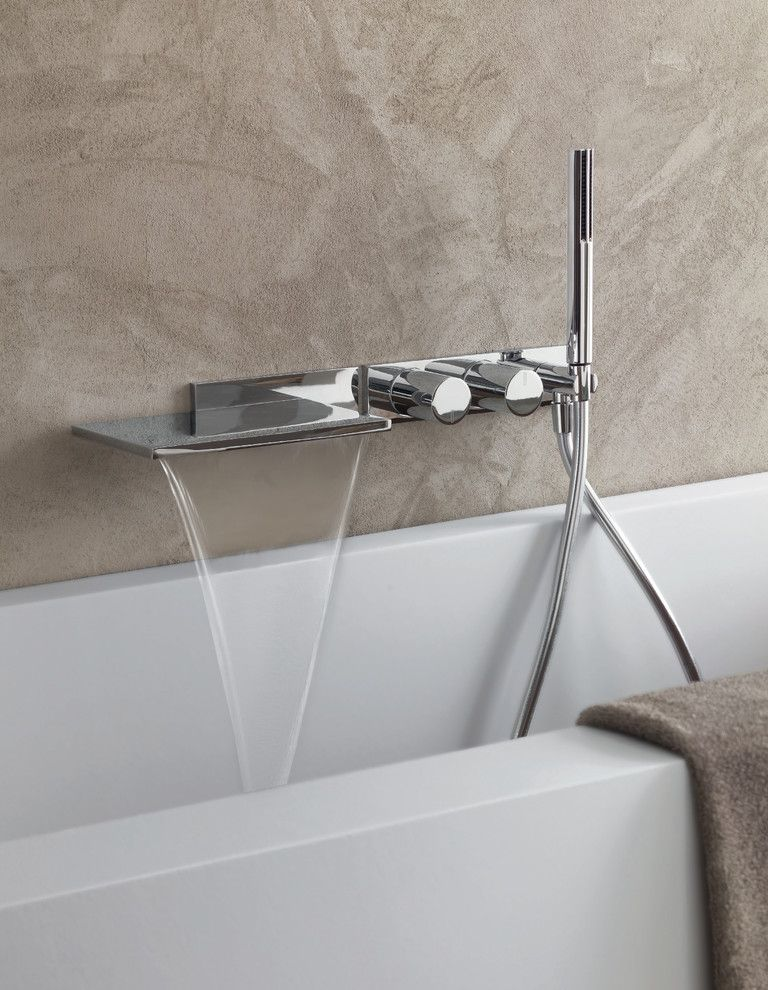 Fantini Faucets   Contemporary Spaces  and Bathroom Bathroom Faucet Bathroom Fixture Bathroom Tap Chrome Chrome Faucet Chrome Fixture Contemporary Bathroom Fantini Faucet Faucets Italian Design Milano Modern Bathroom Shower Showers Stainless Steel Tap