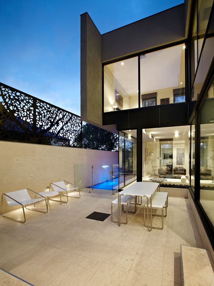 Fence Companies St Louis Contemporary Patio And Aquatic Fence Fountain  Glass Railing Glass Wall Outdoor Living